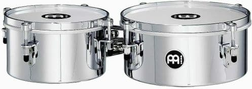 Meinl Percussion  8 inch and 10 inch Mini Timbale - Chrome - MIT810CH